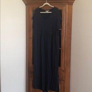 TravelSmith XXL dress - maxi length - navy blue